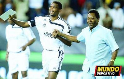 Eto'o et le roi Pelé