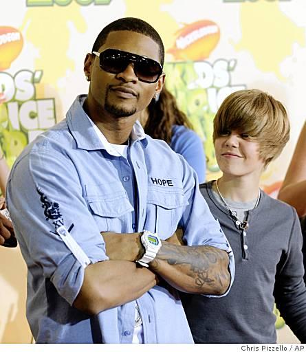 Usher et Justin Bieber