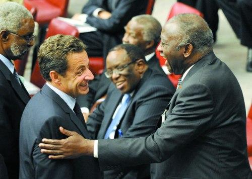 Nicolas Sarkozy et Laurent Gbagbo
