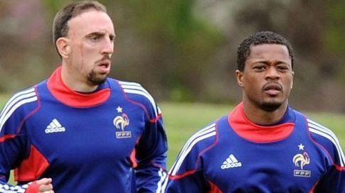 Ribéry et Evra / Crédits photo/AFP