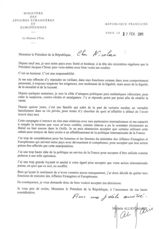 Exemple de lettre de démission québec   Modèle de lettre