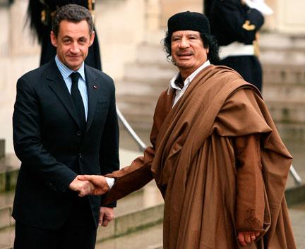 Kadhafi & Sarkozy