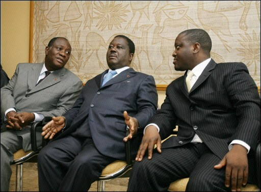 Ouatarra, Bédié et Soro