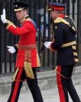William et Harry arrivent à Westminster