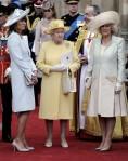 Mme Middleton, La Reine et Camilla