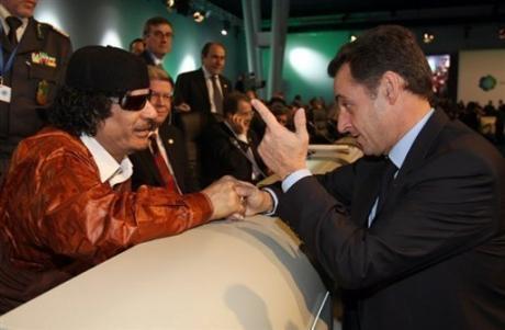 Mouammar Kadhafi & Nicolas Sarkozy