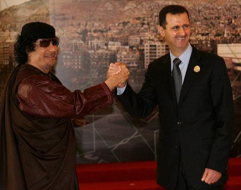 Kadhafi et Assad