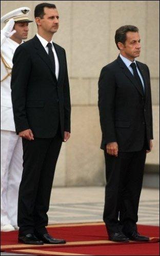 Bachar al-Assad et Sarkozy