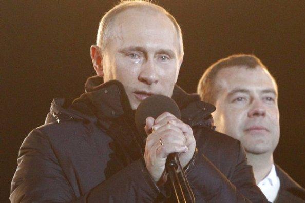 Poutine et Medvedev
