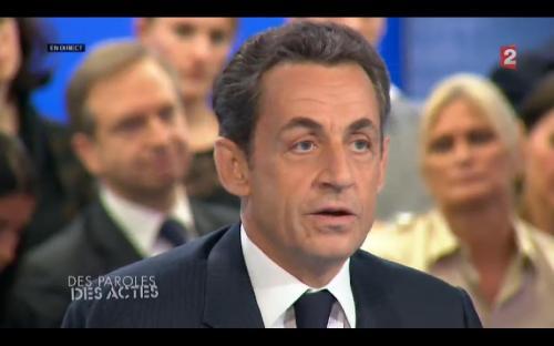 Nicolas Sarkozy sur France 2 (Des Paroles et des Actes 26-04-2012)