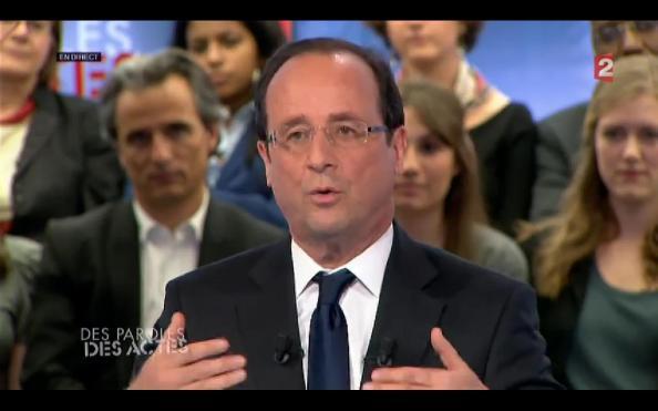 François Hollande ce soir sur France 2 (Des Paroles et des Actes)