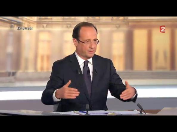 François Hollande, ce soir, sur France 2 (02-05-2012)