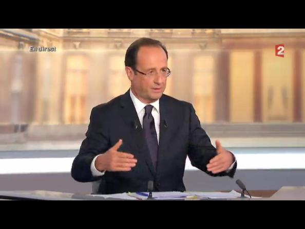 François Hollande, hier soir, sur France 2 (02-05-2012)