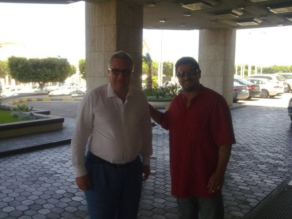 Le Prince Albert de Belgique et Khalid El Moutaani à Tripoli (2010)