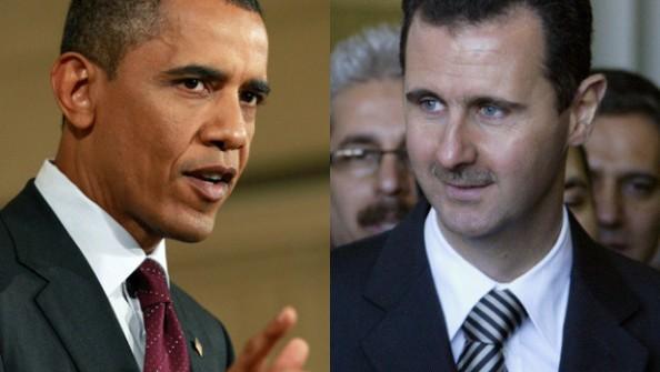 Bashar Al-Assad et Barack Obama
