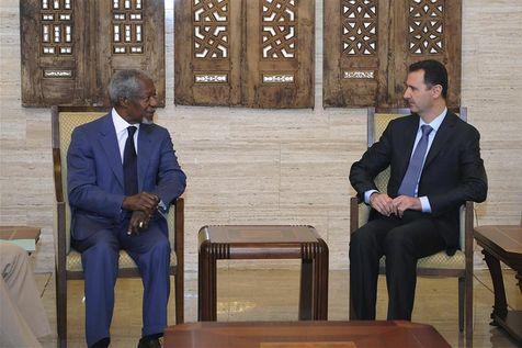 Koffi Annan et Bachar Al-Assad