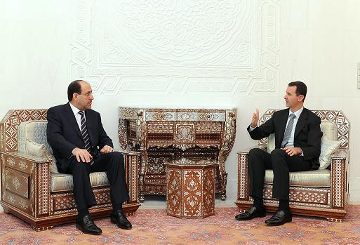 Nouri al maliki et Bachar al Assad