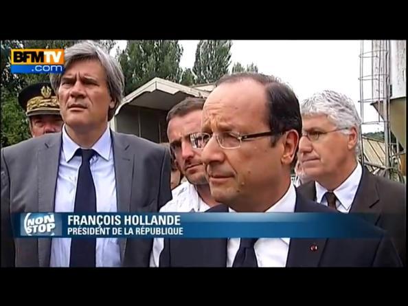François Hollande à Monlezun (Gers)