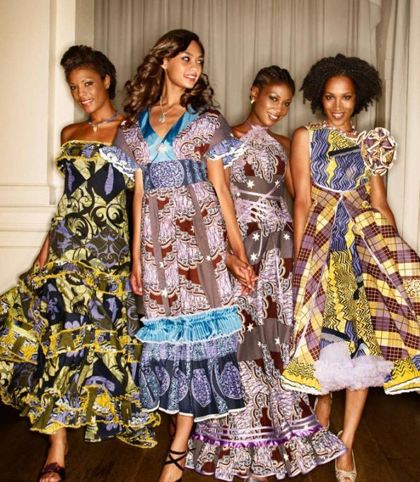 Création de la styliste Oumou Sy