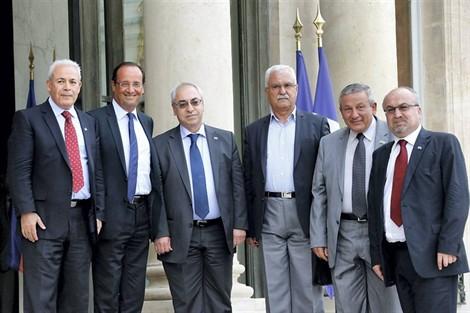 Hollande et les croulants du CNS