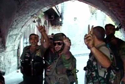 Armée arabe syrienne hier, dans l'après-midi, à Alep