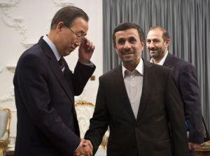Ban-Ki-moon et Mahmoud Ahmadinejad