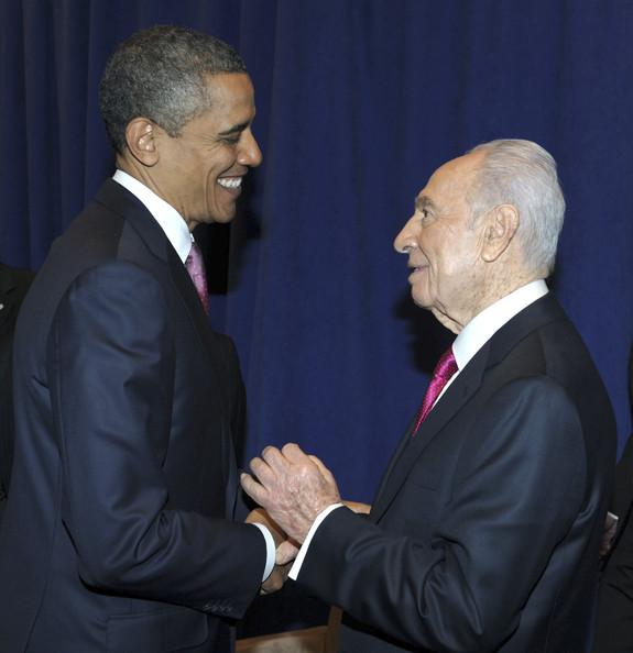 Barack Obama et Shimon Peres