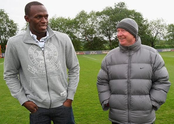 Bolt et Sir Alex Ferguson
