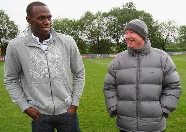 Bolt et Sir Alex Ferguson