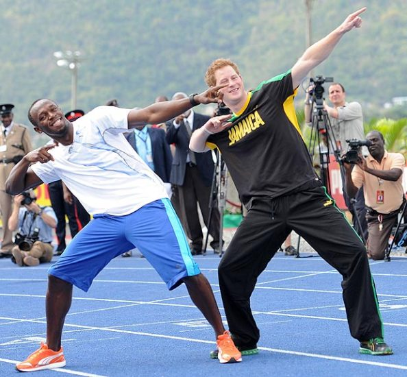 Bolt et le prince Harry