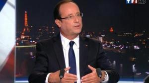 François Hollande, hier, sur TF1
