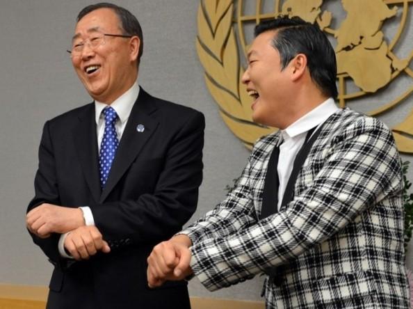 Ban ki-moon et Psy