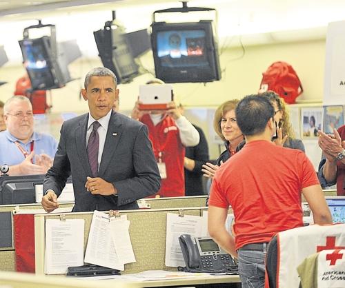 Obama à la Croix Rouge