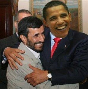 Obama et Ahmadinejad (montage photo)