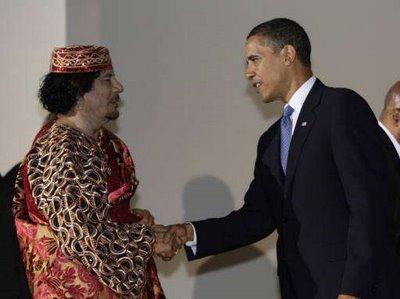 Kadhafi et Obama