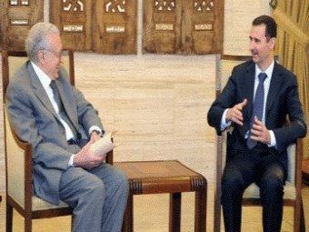 Brahimi et Assad, aujourd'hui à Damas