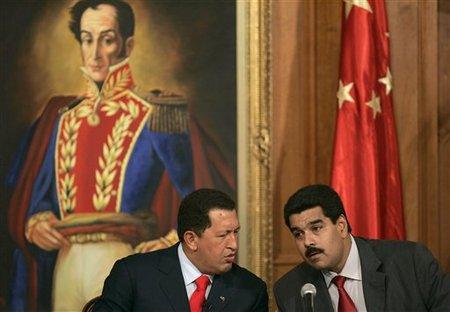 Hugo Chavez et Nicolas Maduro