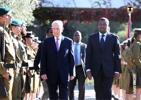 Shimon Peres et Faure Gnassimbé