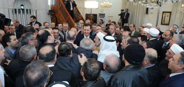 Bain de foule du président Assad