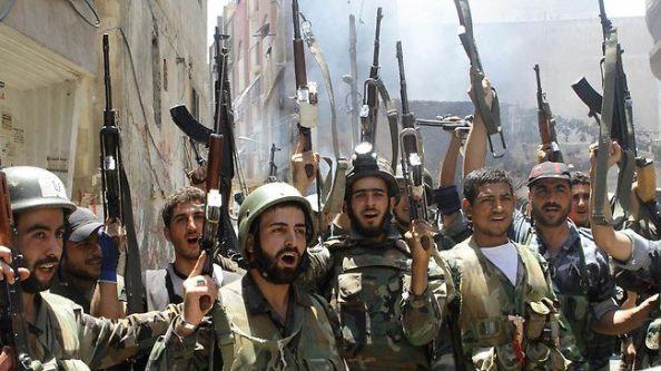 Troupes syriennes à Daraya
