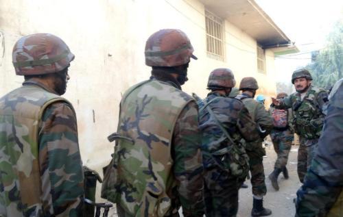 Opération de l'armée syrienne en banlieue de Damas
