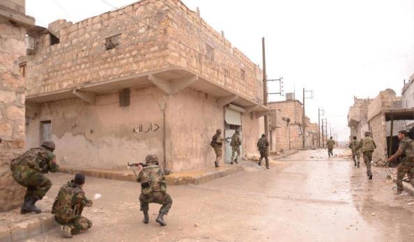 Membres de l'armée syrienne en pleine action