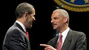 Barack Obama et Eric Holder (Ministre de la Justice)