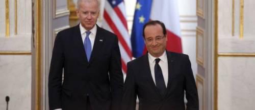 François Hollande a reçu Joe Biden, vice-président américain, à l'Élysée. © SIPA