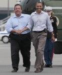 Christie et Obama