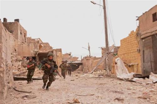 Forces spéciales de l'armée syrienne dans Edlib