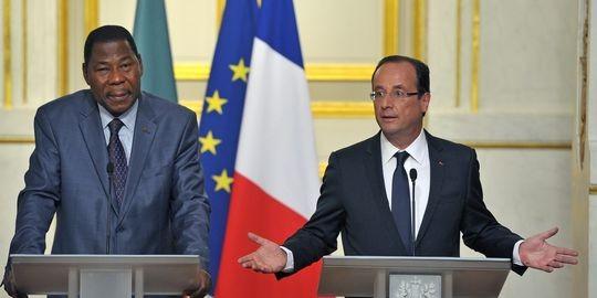 Thomas Yayi-Boni et Francois Hollande