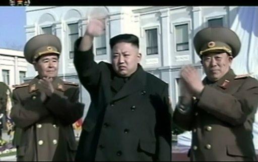 Kim Jong-un, au centre