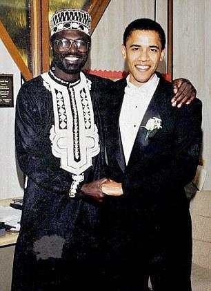 Malik et Barack Obama lors du mariage du second.