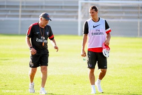 Ancelotti et Ibrahimovic